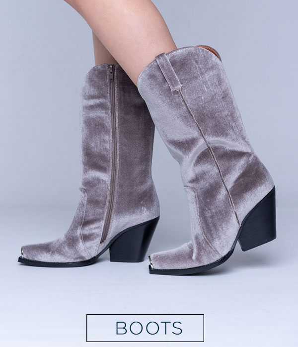 that chic shoe boots category grey